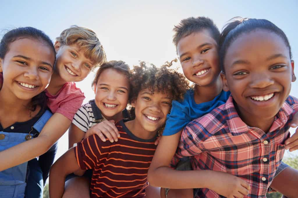carlsbad shores dentistry happy group of kids